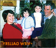Jani's father, Kristaq; Jani; her sister, Megi; and her mother, Ksenia