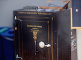 This antique safe once housed the files 的 the late astronomer J. Allen Hynek, a consultant to